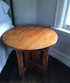 Wood mission table