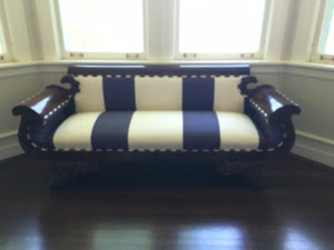 Empire striped sofa