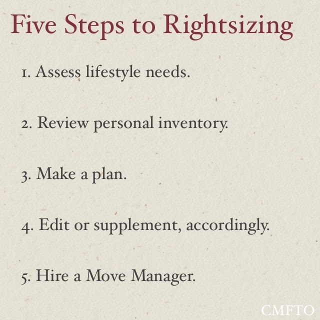 Five Steps to Rightsizing