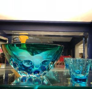 Blue Glassware