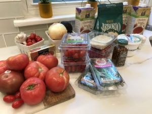 Tomato Risotto Ingredients