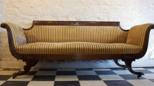 Reupholstered Sofa - Before