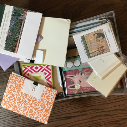 CMFTO - stack of stationery cards